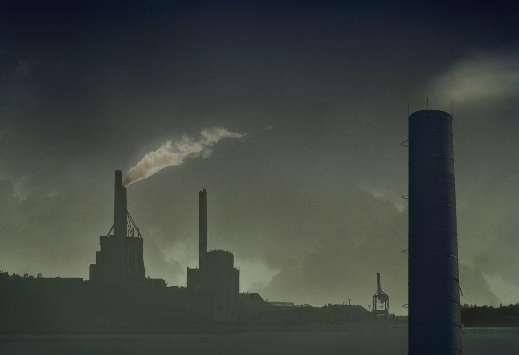 chimney, pollution, air pollution