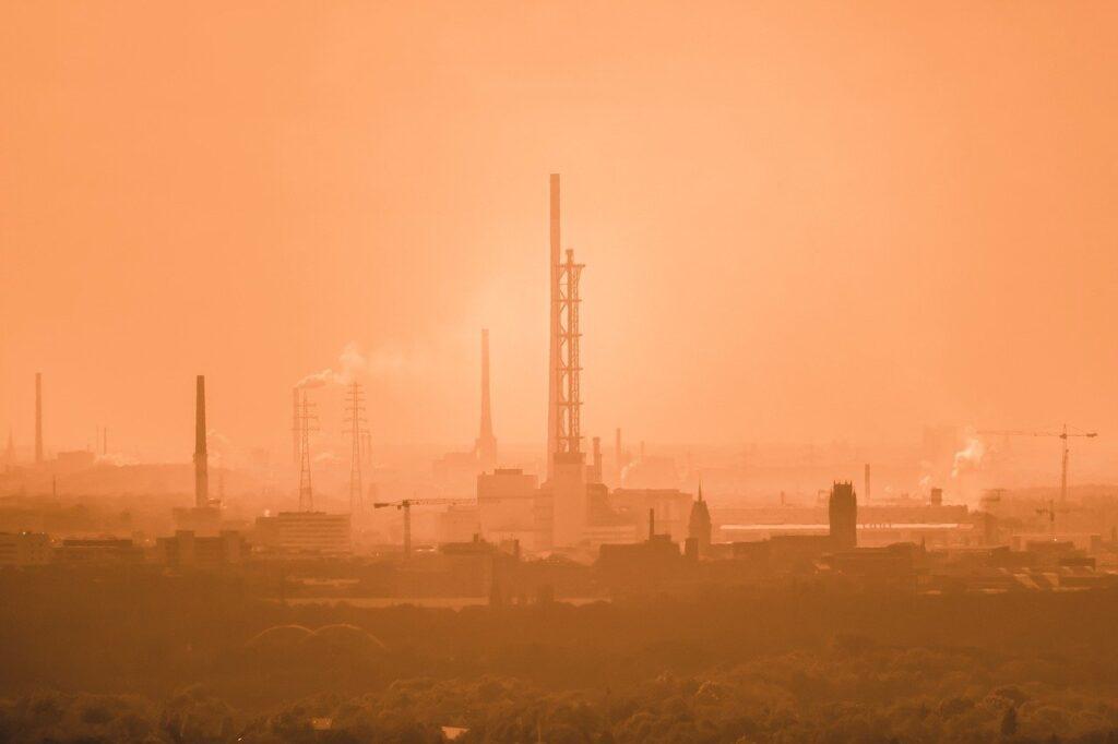 chimney, smoke, industry