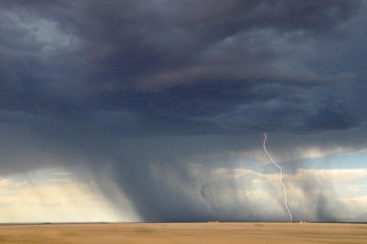 lightning, bolt, storm